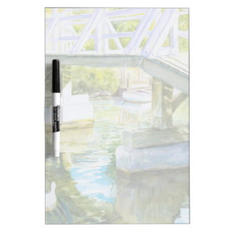 Ducks Under a bridge Dry-Erase Board