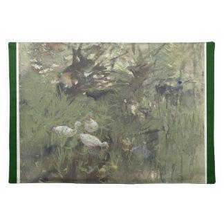Ducks under the willows, Willem Maris Placemats