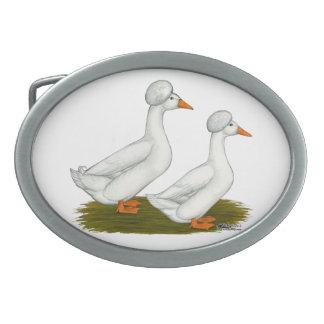 Ducks:  White Crested Belt Buckles