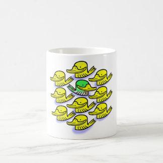 Ducks.   White mug