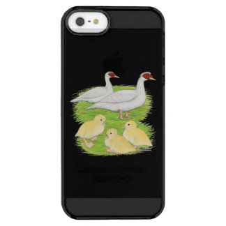 Ducks White Muscovy Family Clear iPhone SE/5/5s Case