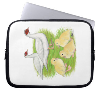Ducks White Muscovy Family Computer Sleeve