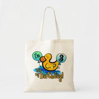 Ducky 3rd Birthday Canvas Bag