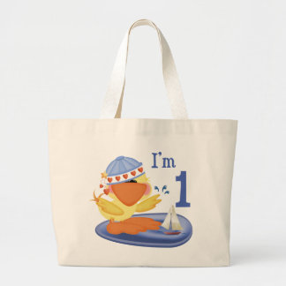 Ducky Boy 1st Birthday Canvas Bags