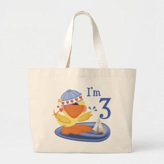 Ducky Boy 3rd Birthday Jumbo Tote Bag