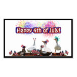 """Ducky Celebration """"Happy 4th of July"""" Business Card Template"""