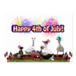 """Ducky Celebration """"Happy 4th of July"""" Business Card Templates"""