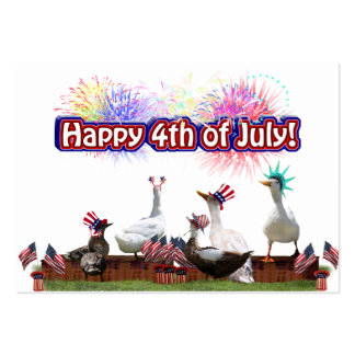 """Ducky Celebration """"Happy 4th of July"""" Pack Of Chubby Business Cards"""