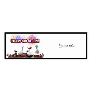 """Ducky Celebration """"Happy 4th of July"""" on Blank Pack Of Skinny Business Cards"""
