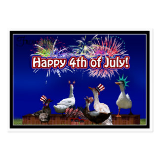 Ducky Celebration w/ ' Happy 4th of July ' Text Pack Of Chubby Business Cards