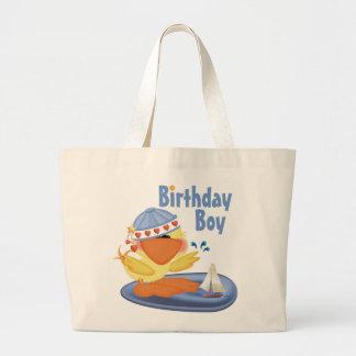 Ducky Cutie Birthday Boy Canvas Bags