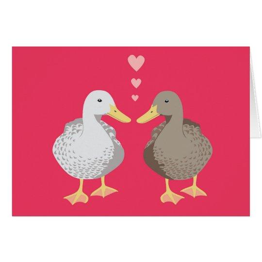 Ducky Love Valentine's Card