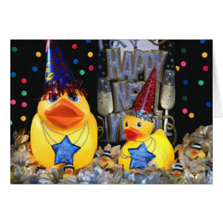 Ducky New Year 2 Greeting Card