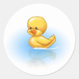 Ducky Round Sticker
