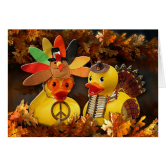 Ducky Thanksgiving (Blank) Greeting Card
