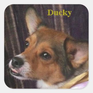 Ducky the Dog Sticker