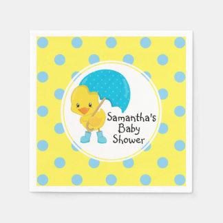 Ducky with Umbrella Baby Shower Disposable Serviette