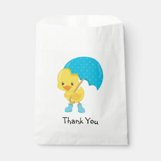 Ducky with Umbrella Thank You Favour Bags