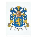 """Ducros Family Crest 6.5"""" X 8.75"""" Invitation Card"""