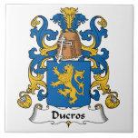 Ducros Family Crest Ceramic Tile