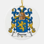 Ducros Family Crest Christmas Tree Ornaments