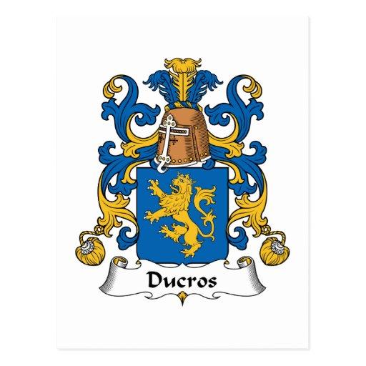 Ducros Family Crest Postcard