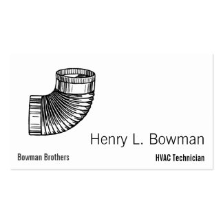Duct Elbow Business Card Template