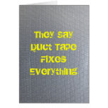 Duct Tape Get Well Soon Greeting Card