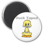 Duct Tape Humour Yellow Duck Taped 6 Cm Round Magnet