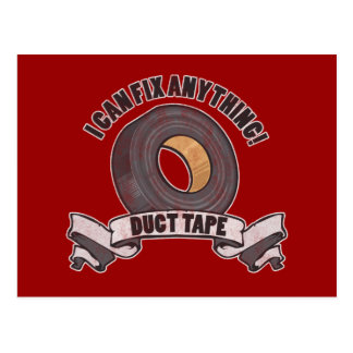 Duct Tape I can Fix anything Post Cards