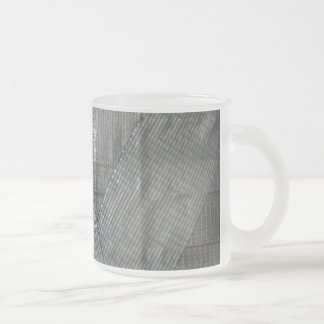 Duct Tape Love Frosted Glass Coffee Mug