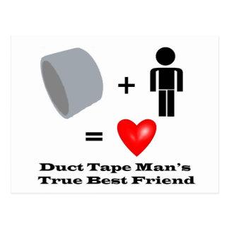 Duct Tape Man's Best Friend Handyman Humor Postcard