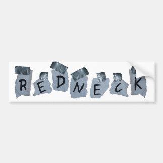 Duct Tape Redneck Sign Bumper Sticker