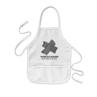 duct tape - silence is golden duct tape is silver kids apron