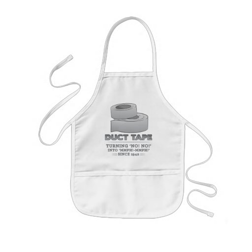 duct tape - turning no! no! into mmph! mmph! funny apron