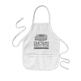 Ductapo Ergo Sum.  I duct tape, therefore I am. Kids Apron