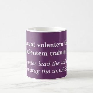 Ducunt volentem fatanolentem trahunt coffee mug