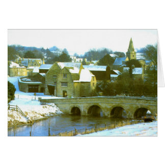 Duddington, Northamptonshire snow scene Greeting Card