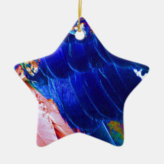 Dude Blue Peafowl Feather Christmas Ornament