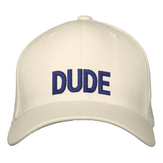 Dude Embroidery Cap Hat Embroidered Baseball Cap