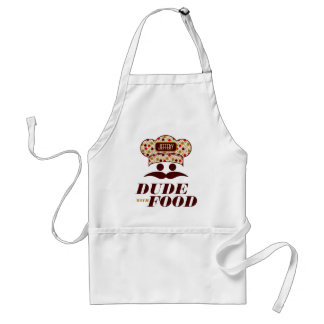 Dude With Food With Chef Hat Monogram 2 Standard Apron
