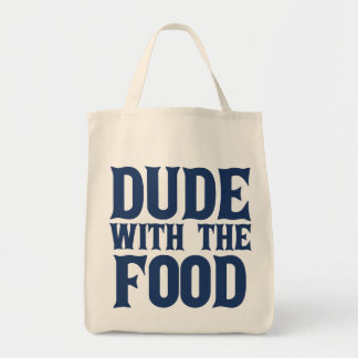 Dude With The Food Blue Canvas Bags