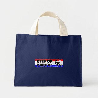 DUDE'N 3 Cards, Bags, Aprons and pet stuff Mini Tote Bag