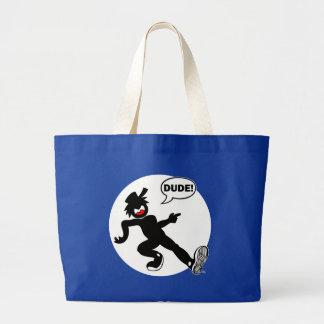 DUDE'N-R1w Cards, Aprons, Bags, Pet Stuff Jumbo Tote Bag