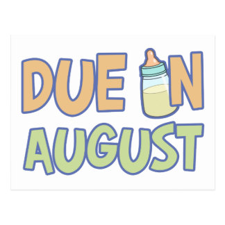 Due In August Postcards