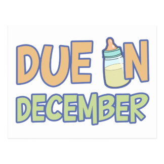 Due In December Post Card