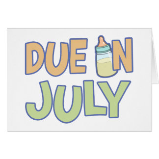 Due In July Cards