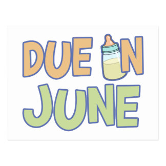 Due In June Post Cards
