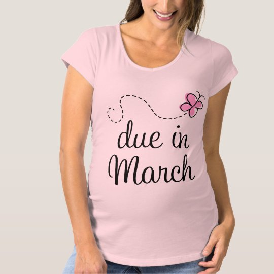 Due In March Maternity (butterfly) T-shirt
