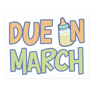 Due In March Postcards
